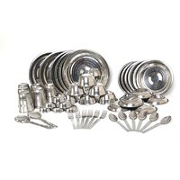 Stainless Steel Dinner Set, 50 Pcs.