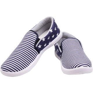 Elligator Stylish Unisex Canvas Slip-on Shoes (1705NBlu)