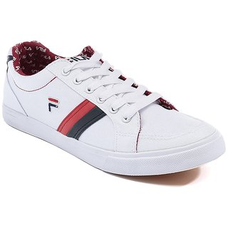 Fila White And Red Casual Shoes