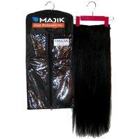 Majik Human Hair Extensions Online, Natural Black, 28 Inches 100G