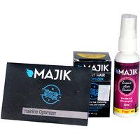 Majik Hair Building Fibers 7 Gm Free 30 Ml Hair Fiber Spray And Optimizer Comb (Medium Brown)