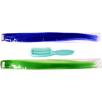 Combo Of Majik Blue And Noen Green Colored Hair Extension With Majik De-Tangling Comb, Set Of 3