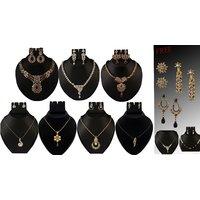 Monalisa Gold Plated 7 Pcs Jewellery Set Combo  -  100