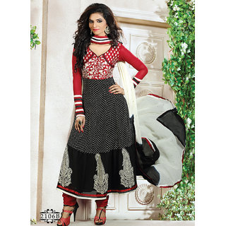Red & Black Designer Salwar Suit