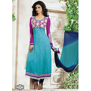 Exhilarating Printed Churidar Salwar Suit