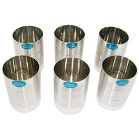 Stainless Steel Glasses (Set Of 6 Pcs)