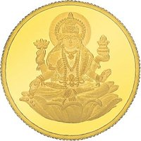 E Gitanjali 5 gm 24KT 995 Purity Laxmi Gold Coin BIS Hallmarked