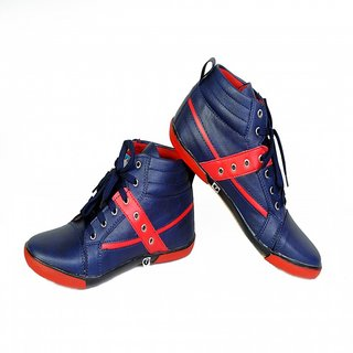 OZONE 2405 SPORTS SHOES PVC NAVY BLUE RED FOR MEN