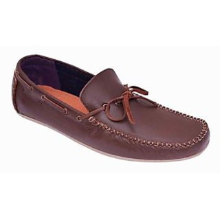 Lock And Walk Brown Color Leather Casual Shoes For Men