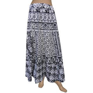 Pezzava: Women's Wear Wrapround Long Skirt Casual Wear Indian SKT-WLC-A0194