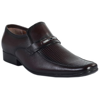 Tycoon Mens Formal Shoes - Brown - Leather - Slip On Shoes