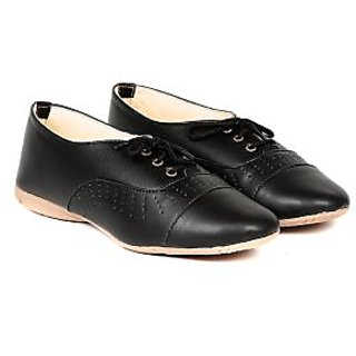 TEN Black Synthetic Leather Casual Shoes (TENSHOLCPNCHBLK02)