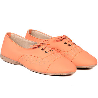 TEN Orange Synthetic Leather Casual Shoes (TENSHOLCPNCHORNG01)