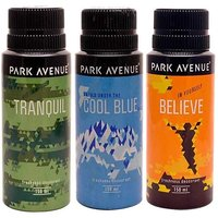 Pack Of 3 Park Avenue Deos-tranquil, Cool Blue And Believe