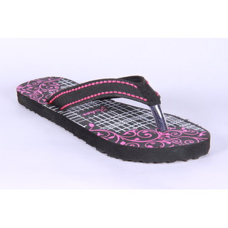 Fisher Black Pink Flip Flops
