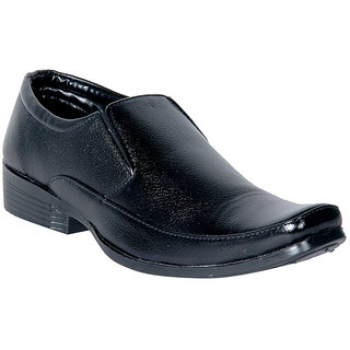 Panahi Men's Synthetic Leather Black Formal Shoes