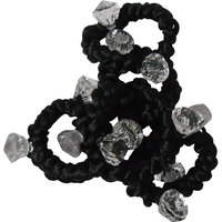 Adbeni Black Resham Thread Coated Hair Rubber Bands Good Choice