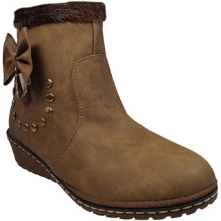 LADELA Brown Princes Boots For Women (RB7045-13-Brown)