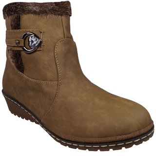 LADELA Brown Princes Boots For Women (RB7045-18-Brown)