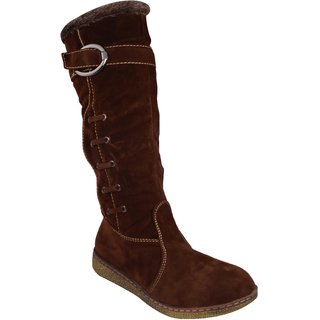 LADELA Brown Exclusive Long Boots For Women (R306-3-Brown)