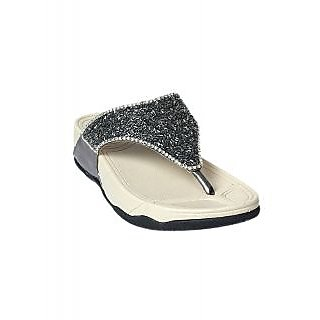 Tycoon Womens Gun Metal Synthetic Wedges at shopclues