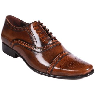 Balujas Brogue Genuine Leather Brown Lace Up Shoes