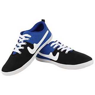 SESS Men's Black And Blue Casual Lace-up Shoes