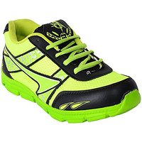 ABZ Men's Neon Green And Black Sport Shoes