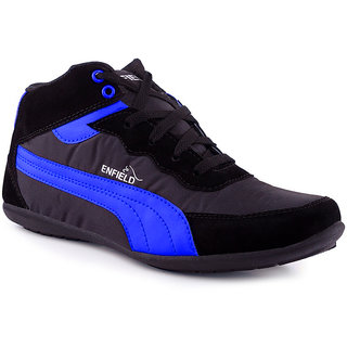 Stylos Mens Black  Blue Casual Shoes