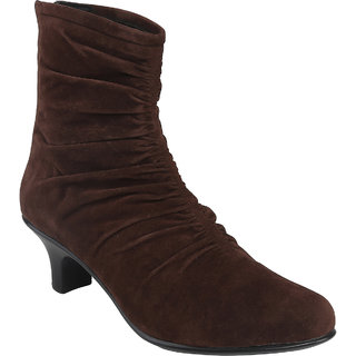 SHOE BAZAR Brown Stylish Boots For Women (sb-1255-brown)