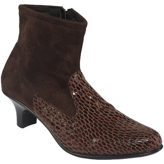 SHOE BAZAR Brown Party Boots For Women (sb-1253-brown)