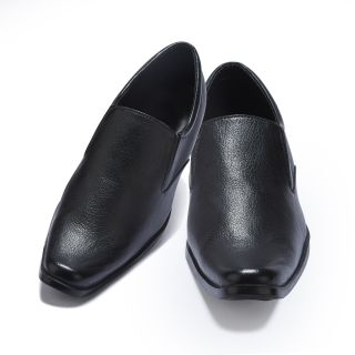 SFeet Slip On Black Formal Shoes For Men