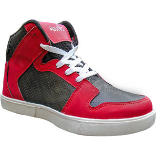 ADDIOS Black And Red Ankle Casual Shoe