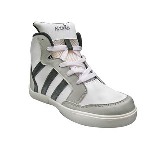 ADDIOS Gray And White Ankle Casual Shoe