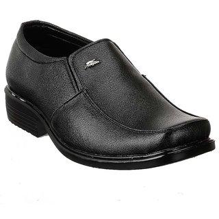 Shoe Island Slip-On Black Formal Shoes - 85637238