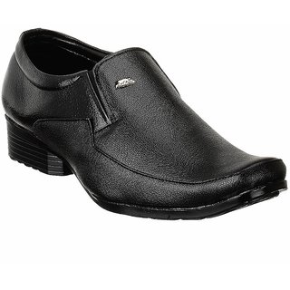 Shoe Island Slip-On Black Formal Shoes