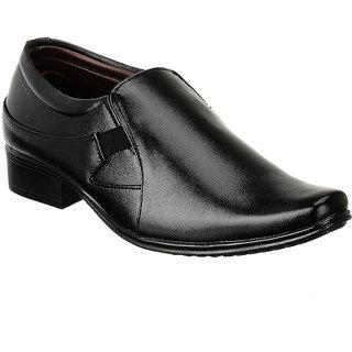 Shoe Island Slip-On Black Formal Shoes - 85637242