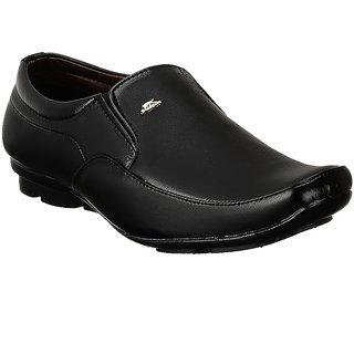 Shoe Island Slip-On Black Formal Shoes - 85637239