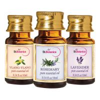 StBotanica Lavender + Rosemary + Ylang-Ylang Pure Essential Oil (10ml Each)