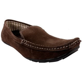 Fine Arch Casual Slipon Suede Leather Brown Shoes Shoes