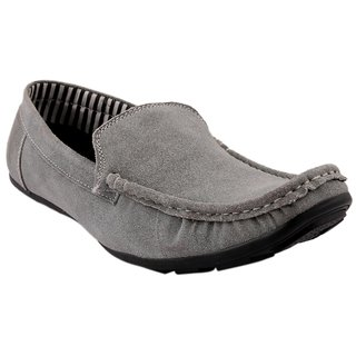 Fine Arch Casual Slipon Suede Leather Grey Shoes Shoes