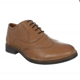 Etromilano Tan Leather Brogue Formal Shoes