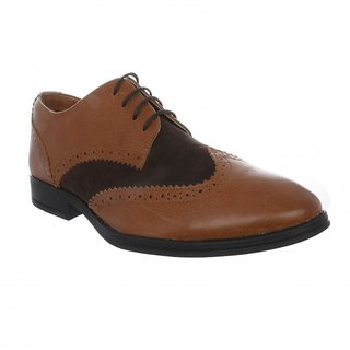 Etromilano Tan Leather Semi Formal Party Wear Shoes