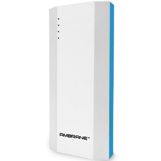 Ambrane 10000 mAh Power Bank P-1111 White  Blue - 1 Year Warranty