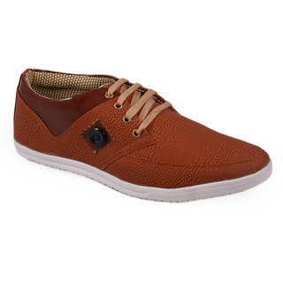 Stylos Mens Tan And Brown Casual Shoes