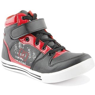 Dox Men's Black &Red Ankle Length Casual Shoes