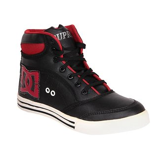 Dox Men's Black Red Ankle Length Casual Shoes