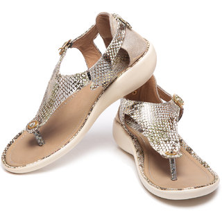 Synthetic Leather ABR Silver Flats