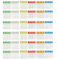 3mm LED Yellow Red Blue Green Orange DIY Kit (300 PCS)