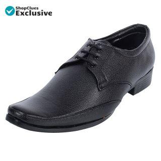 Shoeniverse Mens Black  Lace-Ups Formal Shoes